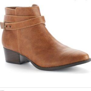Lauren Conrad Light Brown Leather Anke Boots